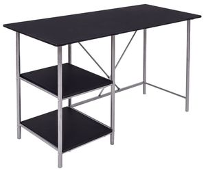 Black Writing Laptop Desk with 2 Shelves, an item from the ' Home Office and Exercise' hand-picked list