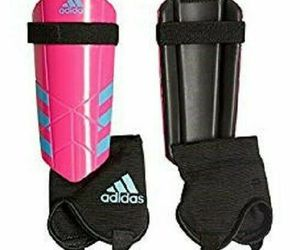 adidas Performance Ghost YouthSmall or  Med Shin Guards Bright Pink Cyan Black N, an item from the 'Youth Soccer Gear' hand-picked list