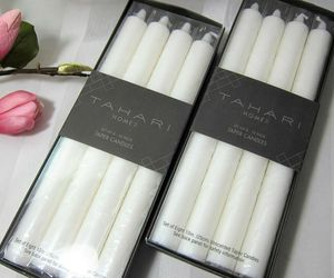 """16x TAHARI Home White Taper Dinner Candles Unscented Wedding Holiday 10"""", an item from the 'Hygge Life' hand-picked list"""