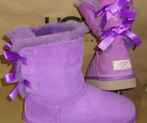 UGG Australia Purple Bailey Bow Boots Youth Size 5Y, Women's 7 NEW #3280 Y, an item from the 'Purple Passion' hand-picked list