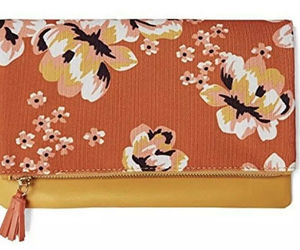 "NEW Rachel Pally ""Zahara"" Faux Leather Floral Print Zipper Fold Clutch Bag, an item from the 'Cute Clutches' hand-picked list"