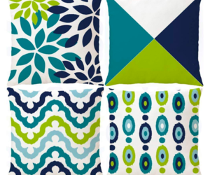 Decorative Green Blue Abstract Throw Pillow Covers Outdoor Cushion Cover Square , an item from the 'Summer Outdoor Furniture' hand-picked list