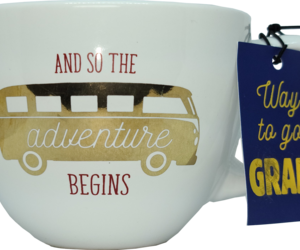 Graduation Gift Coffee Mug And So the Adventure Begins, an item from the 'Gifts for Grads' hand-picked list