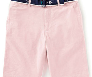 Ralph Lauren Childrenswear Boys Slim Fit Belted Stretch Shorts Pink 18, an item from the 'Spring Wear' hand-picked list