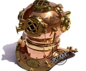 Valentine Copper Scuba Diving Helmet Divers US Mark Navy Premium Decor/Gifts, an item from the 'Community Picks: Sporty Dad' hand-picked list