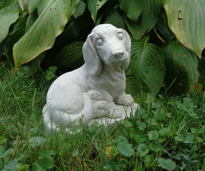 Concrete Statue,Daschund Dog , garden decor, pet loss memorial, dog lovers gift,, an item from the 'Cool Stuff' hand-picked list
