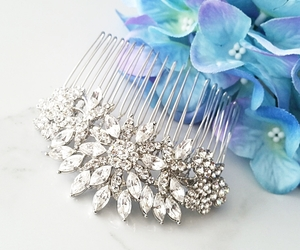 Statement Bridal Hair Comb, Focal Hair Comb, Flower Hair Comb, Large Comb, HS086, an item from the 'Playing with hair' hand-picked list