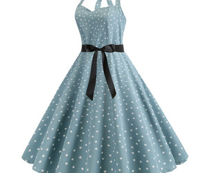 Halter backless polka dot printed Women's retro A-line pendulum Dresses #JY13577, an item from the 'Connecting the dots' hand-picked list