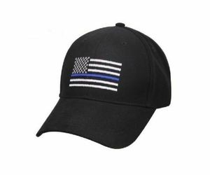 Lot of 2 Thin Blue Line USA Police Memorial Hat American Black Embroidered Cap, an item from the 'Awesome Baseball Hats' hand-picked list