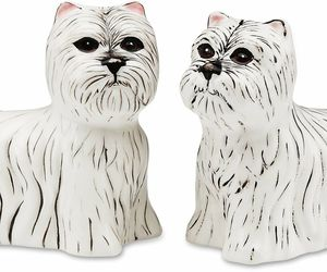 Westie Dogs Salt and Pepper Shakers New S&P Dogs West Highland White Terrier, an item from the 'Community Picks: Invite An Animal to Your Table' hand-picked list
