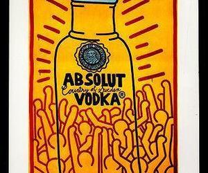 Absolut Haring AD 1986 Vodka Liquor Distillery Keith Haring Advertising Art, an item from the 'Keith Haring' hand-picked list