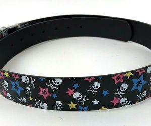 Belt Printed Stars Skulls Mens Womens Unisex Removable Buckle XL 42-44 rocker, an item from the 'Rockstars' hand-picked list