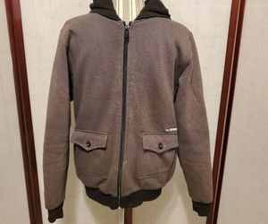 Billabong Grey Zip Up Hoodie Mens Size Small, an item from the 'Sherpa and Fleece Hoodies' hand-picked list