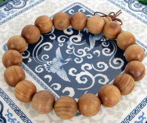 Free Shipping -  good luck Tibetan natural Yellow sandalwood Prayer Beads charm , an item from the 'Practice Safe Hex' hand-picked list