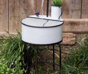 Farmhouse new electric Outdoor Garden Sink Fountain , an item from the 'Ponds and Water Features' hand-picked list