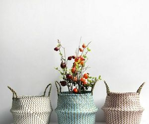 Woven Flower Pot With Handle Wicker Folding New Storage Basket Garden Home Decor, an item from the 'Pretty Planters' hand-picked list