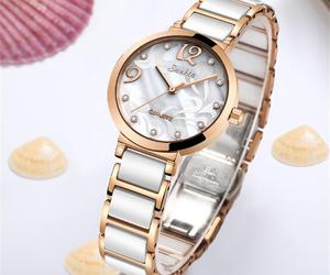 Women's Modern Waterproof Sunkta Wrist Watch With Ceramic Bracelet And Zircons, an item from the 'Watch It!' hand-picked list