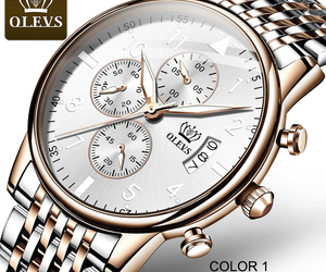 OLEVS 2869 Personalized men quartz watches custom logo dial chrono water-resista, an item from the 'Watch It!' hand-picked list