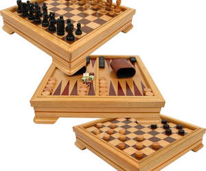 7-in-1 Game Set Chess Board Backgammon Checkers Dominos Playing Cards Poker Dice, an item from the 'Games People Play' hand-picked list