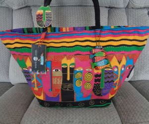 Laurel Burch Cats Beach Tote Bag Pool Canvas Colorful and Waterproof , an item from the 'Preying Kitties...' hand-picked list