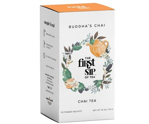 Organic Buddha's Chai Tea - 16 Tea Sachet Box - Relaxing Flavorful Chai Tea, an item from the 'Hygge Life' hand-picked list