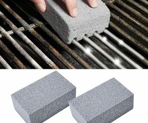 2Pcs BBQ Grill Cleaning Brick Block Barbecue Cleaning Stone Stain Grease Cleaner, an item from the 'Grill Power' hand-picked list