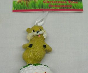 "Hallmark CADDYSHACK GOPHER ON GOLF BALL 3"" HOLIDAY CHRISTMAS TREE ORNAMENT NEW, an item from the 'Golf is my thing' hand-picked list"