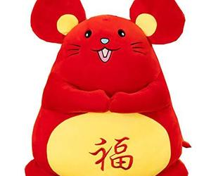 Blancho Bedding Year of The Rat Mascot Plush Toy Little Mouse Doll Rat Zodiac Pl, an item from the 'Year of the Rat' hand-picked list