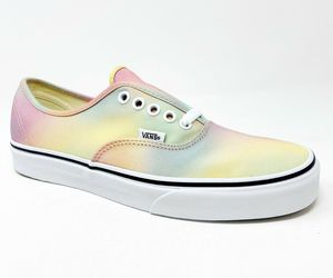 Vans Authentic (Aura Shift) Multicolor True White Womens Casual Sneakers, an item from the 'Summer Sneaks' hand-picked list