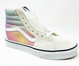 Vans Sk8 Hi (Aura Shift) MultiColor True White Womens Classic Sneakers, an item from the 'Summer Sneaks' hand-picked list
