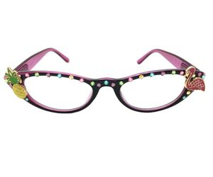 Reading Glasses 2.25, Flamingo, Pineapple, Swarovski Crystals, an item from the 'Vision with Style' hand-picked list