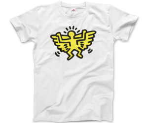 基思·哈林(Keith Haring) Angel Icon, 1990 Street Art T-Shirt, an item from the 'Keith Haring' hand-picked list