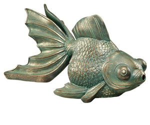 Butterfly Asian Koi Piped Spitter Statue (gf), an item from the 'Ponds and Water Features' hand-picked list