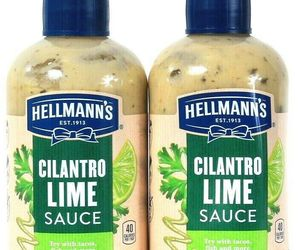 2 Bottles Hellmann's 9 Oz Cilantro Lime Sauce Try With Tacos Fish & More , an item from the 'Every Day is Taco Tuesday if You Try Hard Enough' hand-picked list