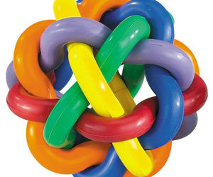 Hard Rubber Dog Toy Knobbly Colorful Wobbly Large 4 Inch Tough Toys for Big Dogs, an item from the 'Love Dogs?' hand-picked list