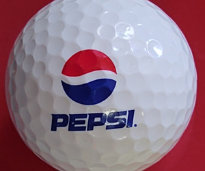 Pepsi Logo Golf Ball Nike PD Long Vintage Advertising Premium Preowned, an item from the 'Golf is my thing' hand-picked list