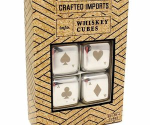 Crafted Imports Whiskey Cubes Stainless Steel Poker Style Chilling Stone Reusabl, an item from the 'Happy Hour at Home' hand-picked list