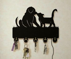 Dog And Cat LED Wall Hook Keys Handbags Hanger Clothes Rack for Animals Lovers, an item from the 'Dog and Cat Lovers' hand-picked list