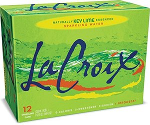 La Croix Sparkling Water Naturally Essenced Sparkling Water, Key Lime, 12 Fluid , an item from the 'Key Lime - A Taste of SPRING ' hand-picked list