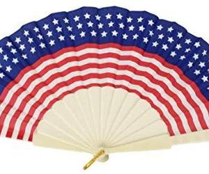 Patriotic Foldable Fan for Memorial Day, Fourth of July, Election + Campaign Eve, an item from the 'Memorial Day - A Time to Remember' hand-picked list