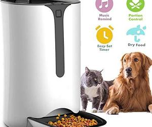 Automatic Pet Feeder for Dog and Cat Food Dispenser with Timed Programmable, Por, an item from the 'Dog and Cat Lovers' hand-picked list