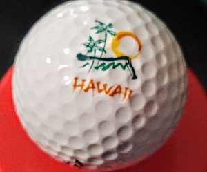 Hawaii Logo Golf Ball Travel Souvenir Golfer Swag Advertising Promotional Item, an item from the 'Golf is my thing' hand-picked list