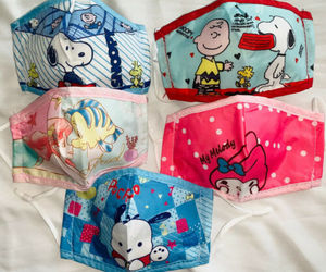 Kids fabric face mask includes 1 filter - Sanrio, Disney, Hello Kitty, Snoopy, an item from the 'Cool Stuff' hand-picked list