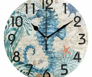 "Nice Wall Clock 9.5"" Seahorse Colorful Vintage Style Coastal Beach House, an item from the 'It's TIME to Spring Forward' hand-picked list"