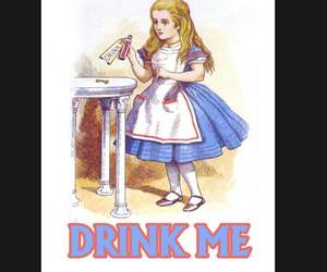 Alice in Wonderland Drink Me metal, Drink Me sign. Retro wall sign, wall art, re, an item from the 'We're All Mad Here' hand-picked list