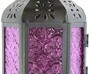 Nice Purple Moroccan Style Candle Lantern Light Glass Decor Hanging Lamp Exotic , an item from the 'Spooky Home Decor' hand-picked list