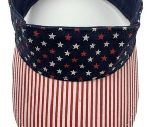 Stars and Strips Red White & Blue Adjustable Adult Visor Cap Hat, an item from the 'Memorial Day - A Time to Remember' hand-picked list