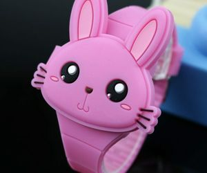 Watches Cartoon Rabbit Children Flip Cover Rubber Electronic Kids, an item from the 'Rock Around the Clock' hand-picked list