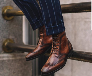 New Bespoke Men Brown Ankle High Lace up Bespoke Leather Boots, an item from the 'These Boots Were Made for Rocking' hand-picked list