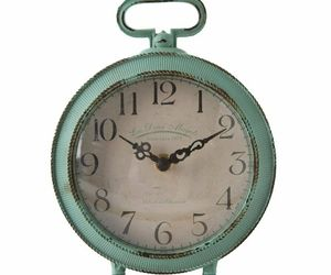 Analog Desk Mantle Clock Metal Distressed Vintage Style Shabby Chic Farmhouse, an item from the 'It's TIME to Spring Forward' hand-picked list